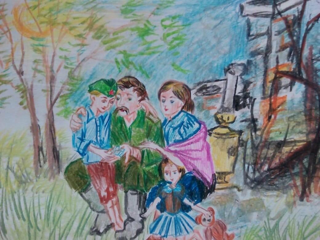 Юные новошахтинцы изобразили военное детство, фото-1