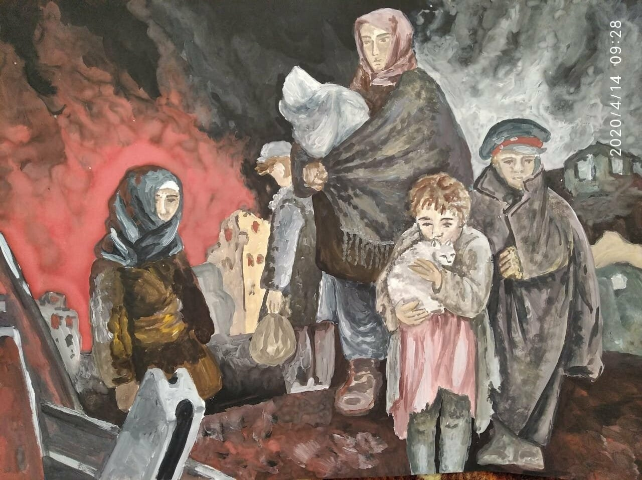 Юные новошахтинцы изобразили военное детство, фото-4