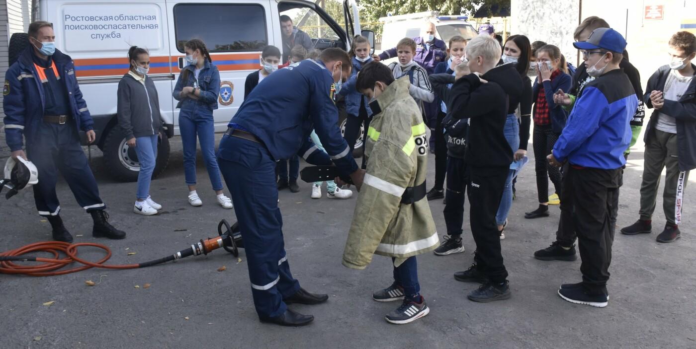 Учащиеся школы-интерната в Новошахтинске посетили спасателей, фото-1