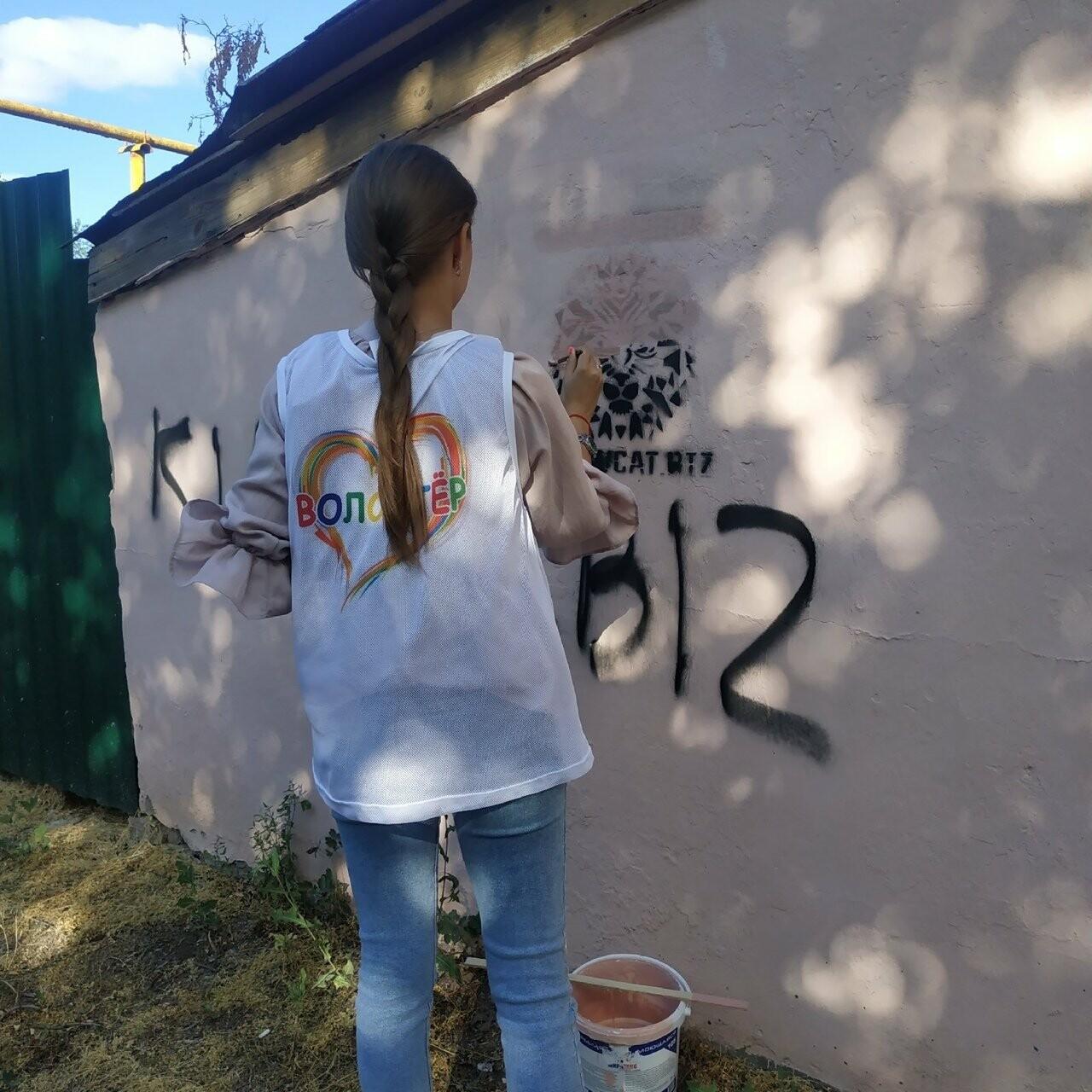 Новошахтинские волонтеры уничтожали рекламу наркотических веществ, фото-1