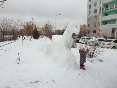 Молодая мама из Новошахтинска сотворила снежный шедевр , фото-1